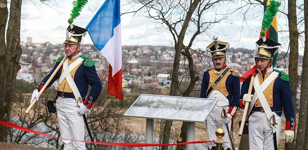 Prie Napoleono kalno Kaune įamžintas garsiojo imperatoriaus persikėlimas per Nemuną