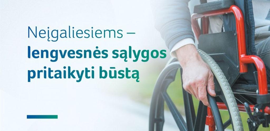 Neįgaliesiems – lengvesnės sąlygos pritaikyti būstą