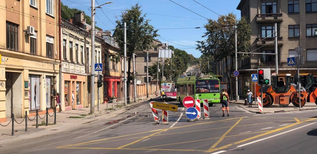 Nuo pirmadienio – eismo ribojimai vienoje judriausių Kauno centro sankryžų