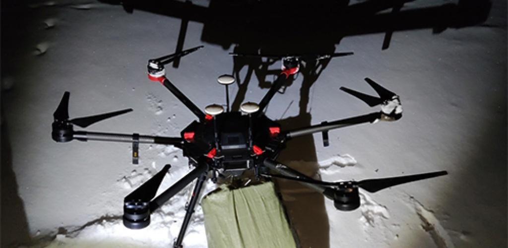 Pasieniečiai sulaikė Baltarusijos cigarečių krovinį skraidinusį droną